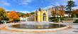 Leinwanddruck Bild - Marianske Lazne Spa, Singing fountain, Czech Republic.