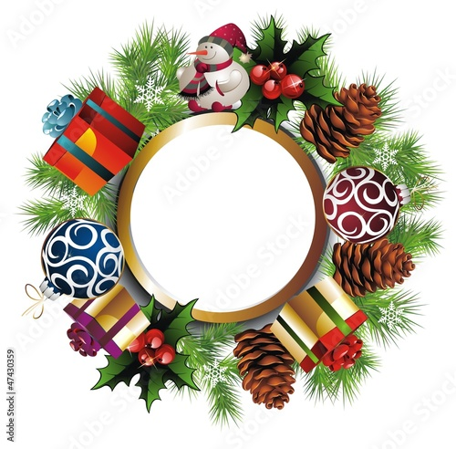 Christmas wreath with presents