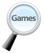 "Magnifying Glass Icon ""Games"""