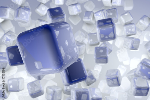 The Cubes - Business World Concept 3D render