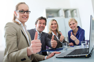 Ein Business Team mit Erfolg