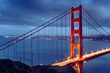 Night scene with famous Golden Gate Bridge