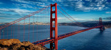 panoramic view of famous Golden Gate Bridge © Frédéric Prochasson