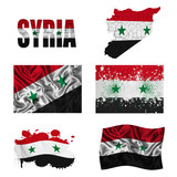 Syrian flag collage