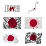 Japanese flag collage