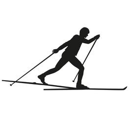 Skifahrer im klassischen Stil
