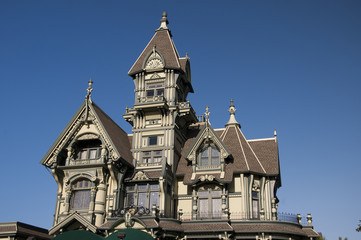 The Carson  Mansion in Old Town, Eureka, California.