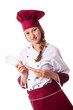 Attractive female chef