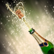 Celebration theme with splashing champagne