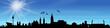 Skyline Nürnberg Himmel Sonne