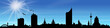 Skyline Leipzig Sonne