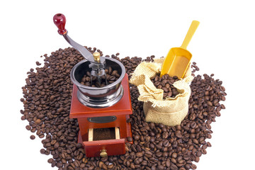 burr coffee mill manual with coffee beans