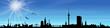 Hamburg Skyline Sonne Himmel