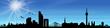 Skyline Düsseldorf Sonne Himmel