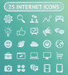 25 vector internet icons