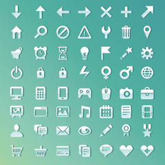 Vector set with internet and technology icons