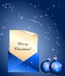 Weihnachtlicher Brief in Blau