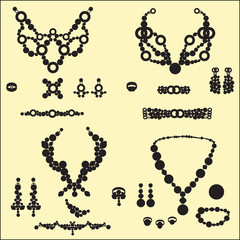 jewelry silhouettes