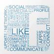 Social Media keywords with background