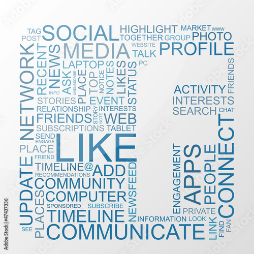 Social Media keywords with background