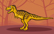 cartoon illustration of tarbosaurus dinosaur