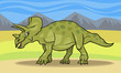 cartoon illustration of triceratops dinosaur