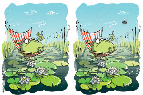 Frog Having Fun ... 10 Differences ... solution hidden layer