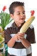 Little enjoying corn on the cob
