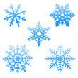 Floncons de neige bleus - 47438386