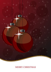 Vector Illustration of Xmas balls 2
