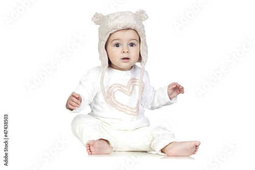 Funny Baby with a Winter Hat