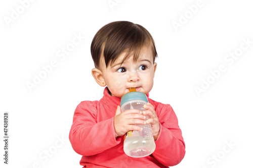 Beautiful baby with a Feeding bottle