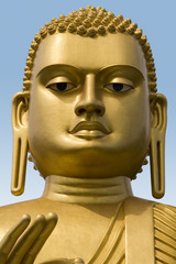 Golden Buddha Statue in Dambulla on the Island of Sri Lanka