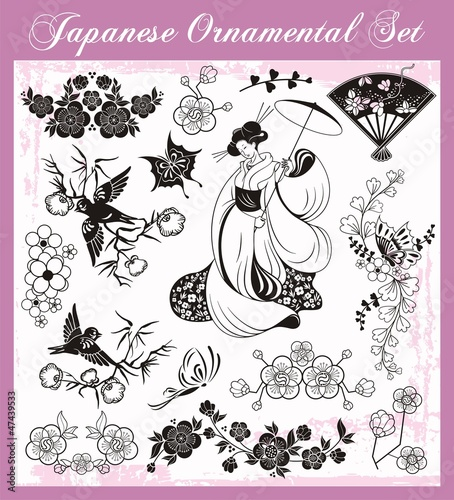 Japanese Traditional Ornaments Set