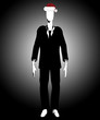 Slender Man With Christmas Hat