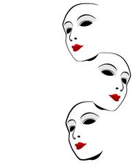 White mask against a white background