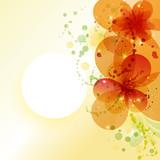 Fototapety Flower background. Elegance invitation card.