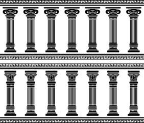 colonnade. stencil