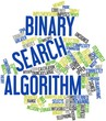 Word cloud for Binary search algorithm