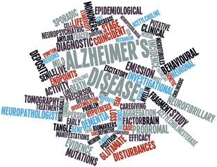 Word cloud for Alzheimer's disease