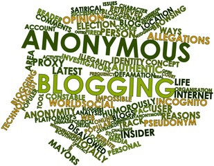 Word cloud for Anonymous blogging