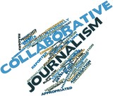 Word cloud for Collaborative journalism poster