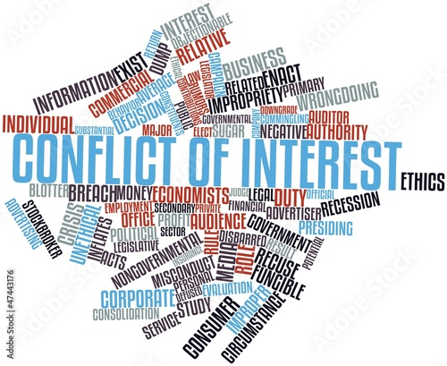 Leinwandbild Motiv Word cloud for Conflict of interest