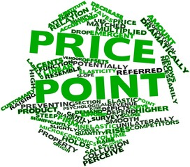 Word cloud for Price point