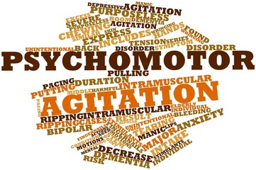 Word cloud for Psychomotor agitation