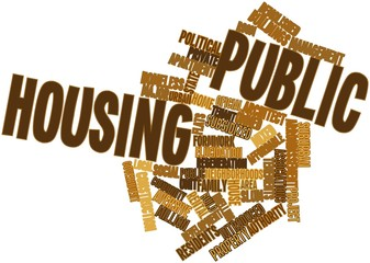 Word cloud for Public housing
