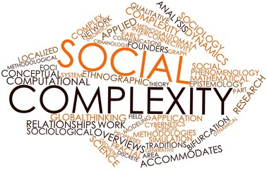 Word cloud for Social complexity