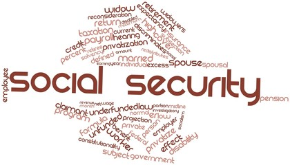 Word cloud for Social Security