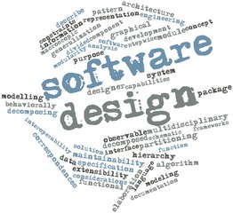 Word cloud for Software design
