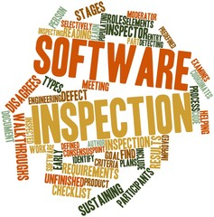 Word cloud for Software inspection